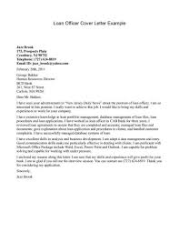 Collection Of Solutions Sample Of Loan Officer Cover Letter Job And