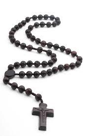 dark brown jujube wood men s rosary on cord 19674