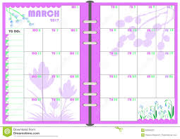 monthly day planner template daily planner march 2017 stock vector illustration of 2017 83046322