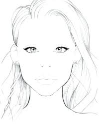Blank Face Templates Extraordinary Blank Face Chart Templates Gsfoundation