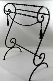 Wrought Iron Towel Bars, Hooks, and Racks Our Wrought Iron Towel ... & WROUGHT IRON QUILT/TOWEL RACK SCROLL DESIGN Adamdwight.com