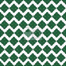 Nálepka Celtic Styl Nekonečný Uzel Symbol Bezešvé Vzor V Zelené Barvy