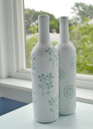 DIY Wine Bottle Vases - Tulips & A Terrier