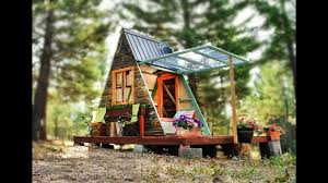 An A - frame Amazing Tiny Cabin but Inexpensive | Beautiful Tiny House  Design Ideas