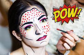 makeup tutorial roy lichtenstein pop art makeup with bryanna casey