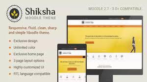 moodle templates shiksha responsive moodle theme themeforest website templates