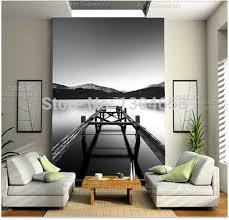 Free shipping custom 3D wallpaper mural Long Exposure on Loch ...