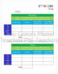 I Ready Score Chart 2nd Grade Iready Reading Math Tracking Chart Student