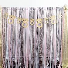 diy ribbon wedding backdrop