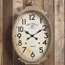 clocks decor objects large oval wall