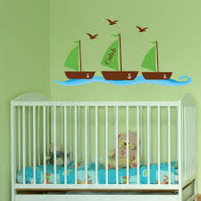 nursery personalized nautical wall decals
