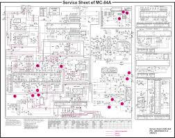 lg cf20 lg cf21 service mode option adjustment circuit diagram circuit diagram schematic