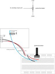 potentiometer \\ learning \\ wiring Wiring A Potentiometer For Motor int sensorvalue; void setup() { serial begin(9600); sets the serial port to 9600 } void loop() { sensorvalue = analogread(0); read analog input pin 0 Potentiometer Motor Control Wiring Diagram