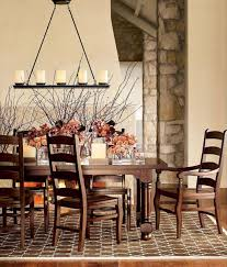 image of home linear chandelier dining room