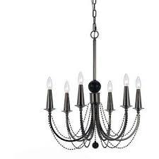 8448 6 light nickel chandelier