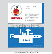 handyman business handyman business sign vector set amenities stock vector 424748197