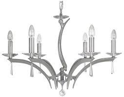 wroxton 6 light chrome crystal chandelier oaks lighting