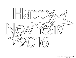 Small Picture 2016 Happy New Year Coloring Page Coloring Pages Printable