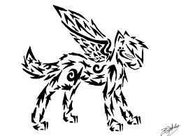 tribal wolf with wings drawing. Beautiful Wings Another Tribal Wolf By MidnightShadow88  And Wolf With Wings Drawing W