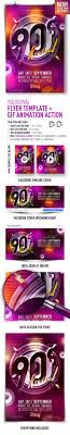 revival flyers templates 90s revival flyer template gif animation action by feelsmart