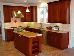 G Shaped Kitchen Layout Under Rectangular Flush Mount Ceiling Light White Cabinet Front Of