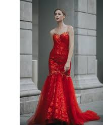 Buy Designer Evening Dresses Illusion Neck Red Mermaid Jessica Bridal Evening Gown Buy Red Designer Evening Gowns Product On Alibaba Com