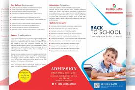 tri fold school brochure template free tri fold school brochure design file formats psd ai cdr