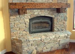stacked stone fireplace before and after