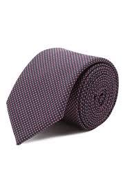 Мужской красный <b>шелковый галстук HUGO</b> — купить за 4800 руб ...