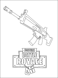 Fortnite Scar Coloring Pages Wwwpicturesbosscom