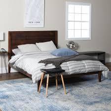 Walker Edison Furniture Company Plank Distressed Mahogany Queen ...