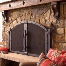 fireplace screens with doors. Large Crest Fireplace Screen With Doors And Tool Set This One Also Screens B