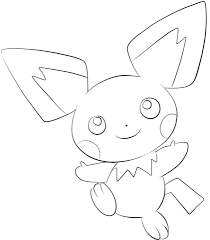 Click To See Printable Version Of Pichu Coloring Page Lineart