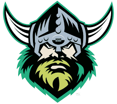Canberra Raiders Primary Logo (1998) - A viking head wearing a ...