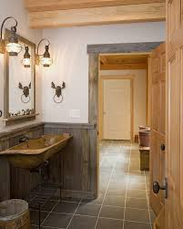 office wainscoting ideas. rustic wainscoting ideas bathroom with reclaimed trim wallmounted lanterns wood sink office