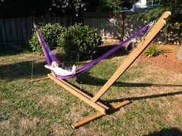 stand alone hammock swing chair diy wood