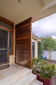 timber privacy screens front door