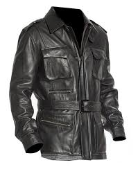 sputer brandit military m65 style army mens pu faux trench coat blazer leather jacket