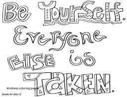 Kindness Quotes Coloring Pages All Quotes Coloring Pages Coloring
