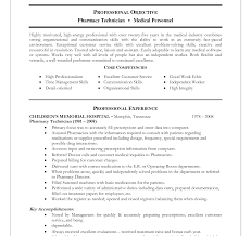 Pharmacy Technician Resume Objective Pharmacy Technician Resume Sample Is One Of The Best Idea For You 79