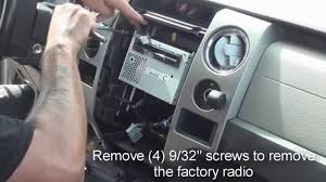 2012 ford f150 stereo wiring harness 2012 image how to remove factory stereo ford f150 2009 and up on 2012 ford f150 stereo
