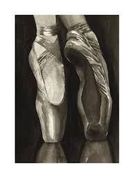 ballet dance shoes art prints