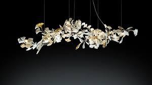 Ginkgo 155 - <b>Light</b> sculpture <b>modern</b> porcelain <b>chandelier</b>