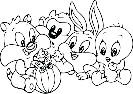 Looney Tunes Christmas Coloring Pages Looney Tunes Christmas