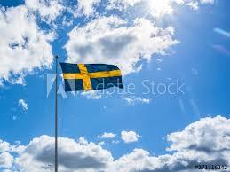 Sveriges nationaldag och svenska flaggans dag firas den 6 juni varje år och är en helgdag i sverige. Swedish Flag On Blue Sky White Clouds Swedish Flag Day Concept Sveriges Nationaldag National Day Of Sweden Swedish Flag Day Buy This Stock Photo And Explore Similar Images At Adobe
