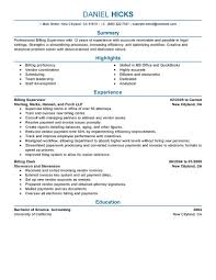 Resume Billing Free Resume Example And Writing Download