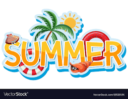 font design for word summer royalty free vector image