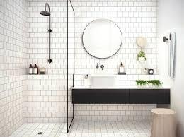 bathroom subway tile floor. Subway Tiles Bathroom White Ideas With Tile And Floating Vanity Sink Floor A