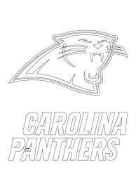 Small Picture Carolina Panthers Logo coloring page Free Printable Coloring Pages