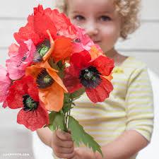 Make A Paper Poppy Flower Tissue Paper Poppies